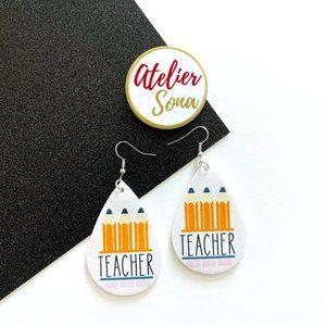 Teacher Tear Drop Earrings